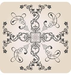 florel calligraphic elements vector image