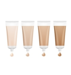 Foundation cream palette vector