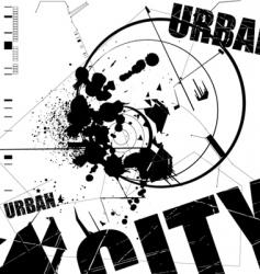 grunge urban vector image vector image
