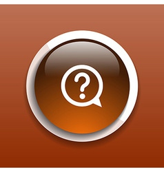 Image of question mark icon solution mark symbol b vector image