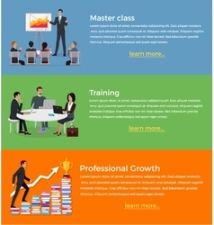 Master Class and Training Set of Banner vector image vector image