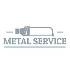 metal company logo vintage style vector image