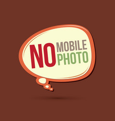 No mobile no photo text in balloons vector