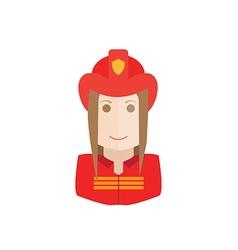 Object firefighter avatar vector