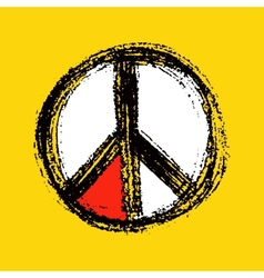 Peace symbol drawing vector image