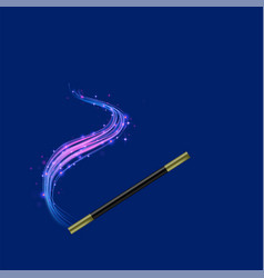 realistic magic wand vector image