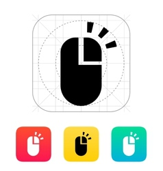 Right click mouse icon vector