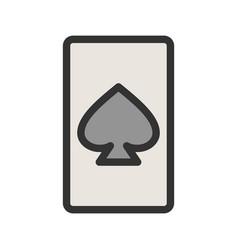 Spades card vector