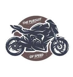 Sport superbike motorcycle emblem vector image