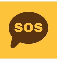 The sos icon help symbol flat vector
