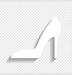 Woman shoe sign white icon with soft vector