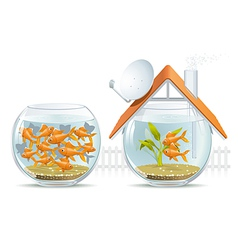 Aquarium home and social housing vector