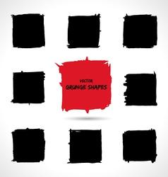 Set of grunge shapes vector image