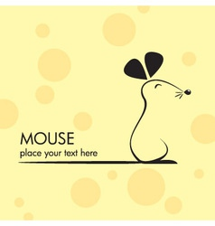 cute mouse icon vector image