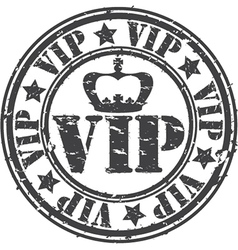 Grunge vip rubber stamp vector image