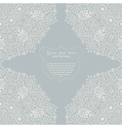 Ornamental corner lace frame Background for vector image