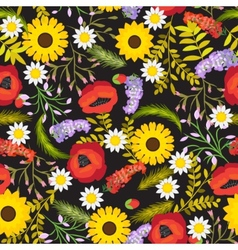 Floral seamless background flowers vector
