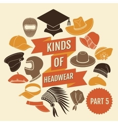 Kinds of headwear part 5 vector