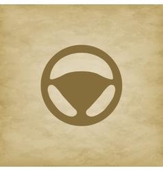 Car wheel on grunge background vector