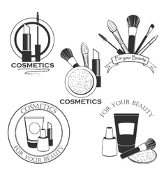 Cosmetics set label for your product or design vector