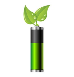 Clean energy battery vector