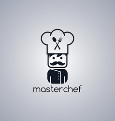 Master chef cartoon vector