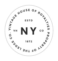 Vintage logo house of royalties property company vector