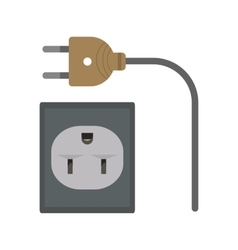Wire and plug vector