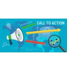 Long background call to action vector