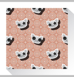 Animal seamless pattern collection with piggy 8 vector image vector image