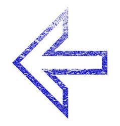 Arrow left grunge textured icon vector
