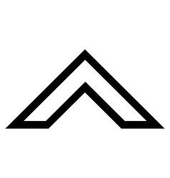 Arrowhead up thin line icon vector