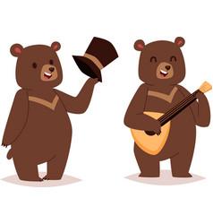 Cartoon bear set vector image vector image