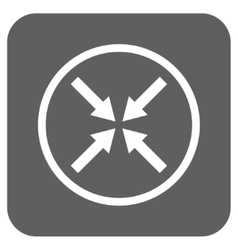 Center arrows flat squared icon vector