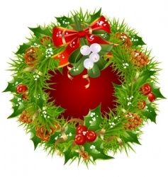 Christmas garland frame vector