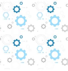 cog wheel gear seamless pattern vector image