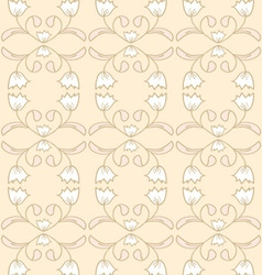 Creamy seamless floral pattern vector image vector image