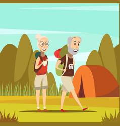Elderly people background vector
