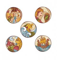Fairytale characters vector