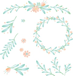 floral bower and leaf berry vector image