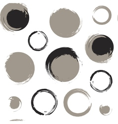 Grunge circles on white background vector