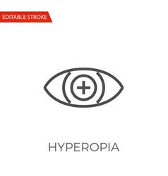 Hyperopia icon vector