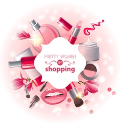 make-up background vector image vector image