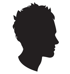 Man head silhouette vector image vector image