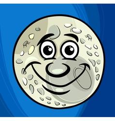 Man in the moon saying cartoon vector
