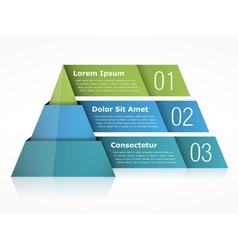 Pyramid chart three elements vector