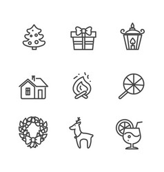 Set of icons isolated on white vector