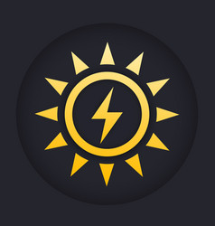 solar energy icon sign vector image