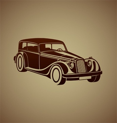 Sport classic automobile vector image vector image