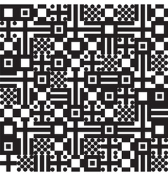 square pattern black vector image